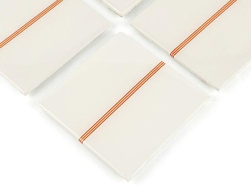 White Stripe Coasters