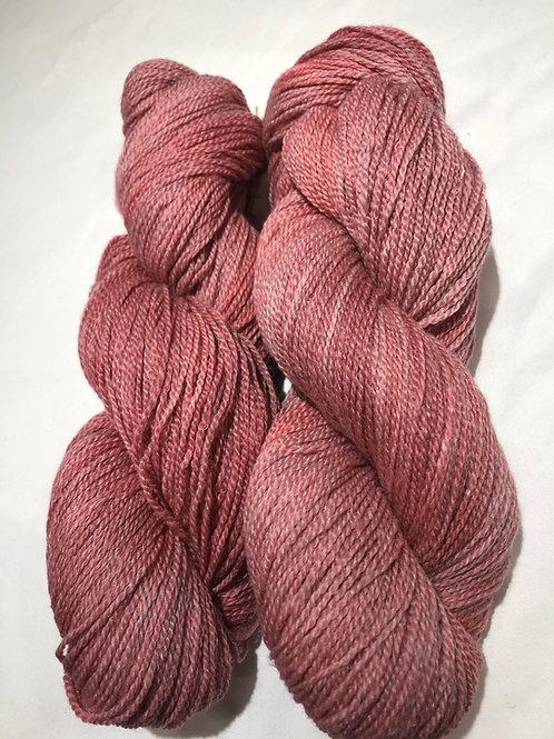 Old Rose, tonal, Cormo-Merino w/ 30% Ramie, Fingering wt.
