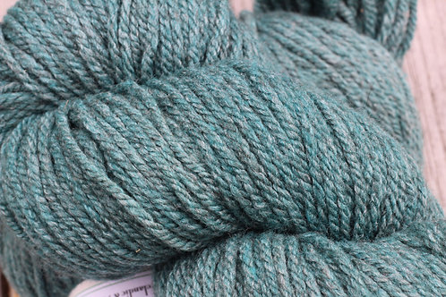 """Forest Green on Grey"" (Merino w/ 15% Bamboo)"
