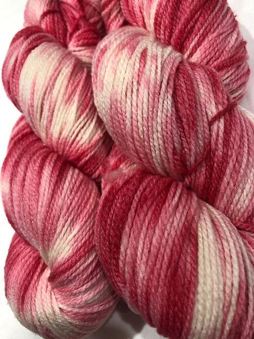 Pretty in Pink, Merino w/ 10% Silk, Fingering wt.