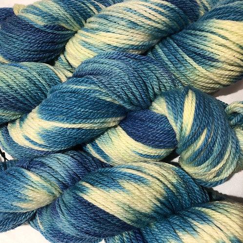 Sapphire Swirl, Merino w/ 15% Bamboo & 25% Alpaca, Worsted wt.