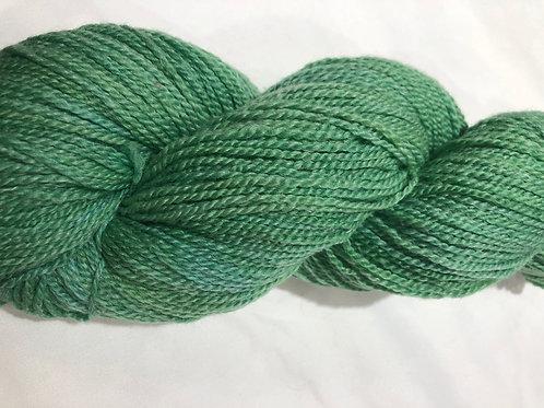 Spring Green, tonal, Cormo-Merino w/ 30% Ramie, Fingering wt.