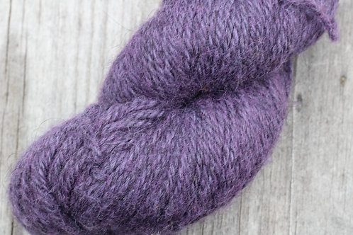 """Lilac on Dark Grey"" Icelandic w/ 30% Merino"