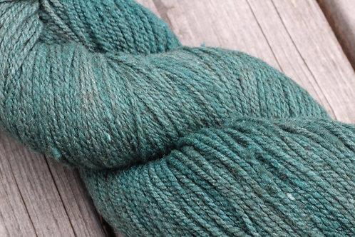 """Forest Green on Grey"" (Merino w/ 10% Silk)"
