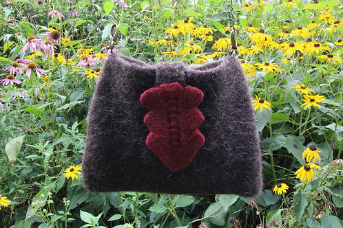 Natural Colored Hand-Felted Shoulder Bag