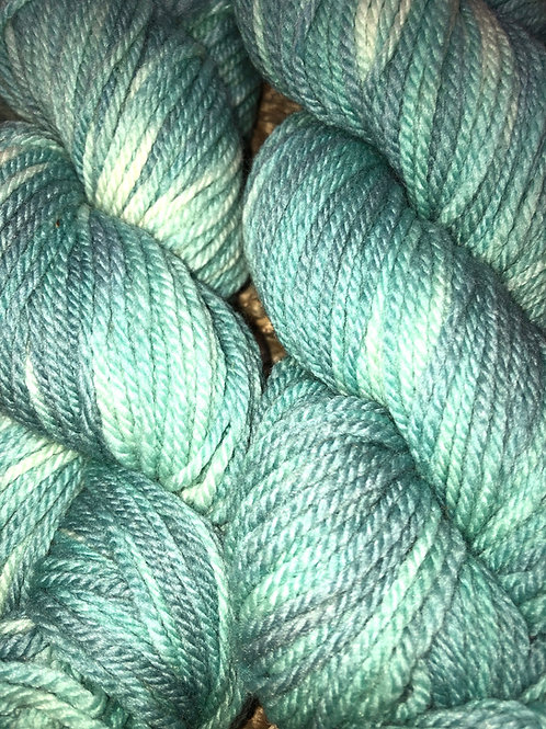 """Seaglass"" 100% Tunis, Worsted Wt."