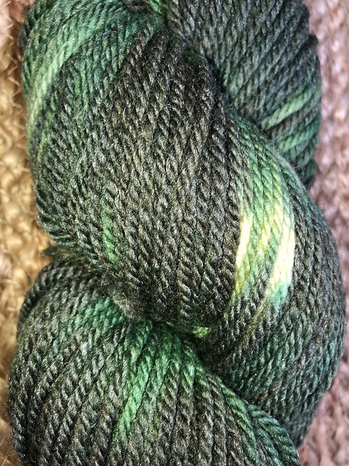 """""""Sunlit Forest"""" 100% Tunis, Worsted Wt."""