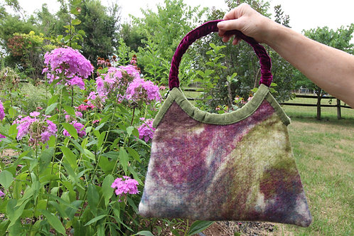 "Groovy ""Tie-Dye"" Felted Purse"
