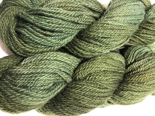 Bronze-Green, tonal on grey Icelandic w/ 20-30% Merino, Worsted wt.