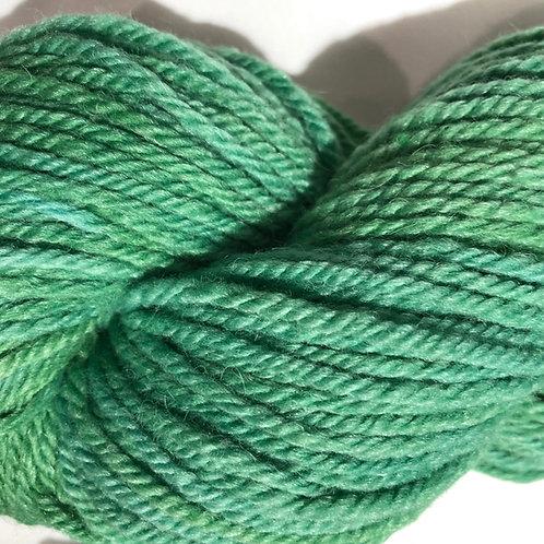 Spring Green, tonal, Merino w/ 15% Bamboo, 25% Alpaca, Worsted wt.