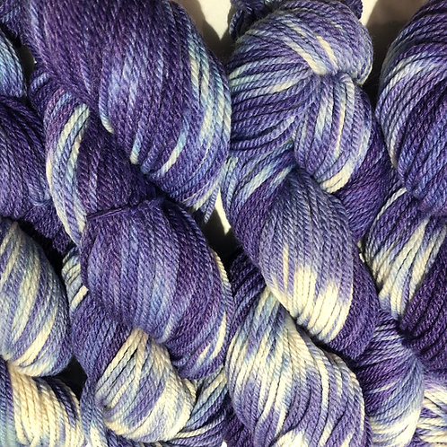 African Violets, Merino w/ 15% Bamboo & 25% Alpaca, Worsted wt.