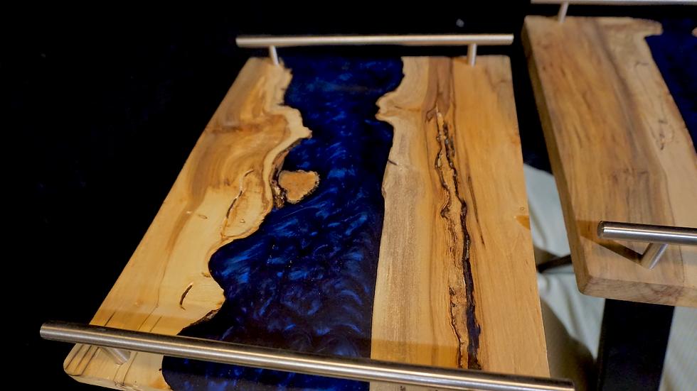 Live Edge Serving Trays/Table Art, Pair