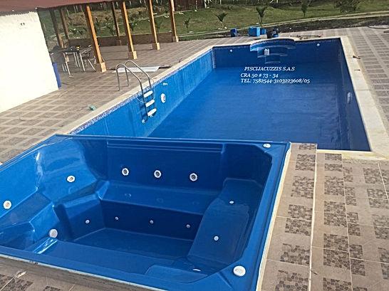 piscina de 1200 x 800 fabricada en fibra de vidrios y resina poliester con jacuzzi para seis personas full equipo reforzada con fibra de maya - Piscinas De Fibra De Vidrio