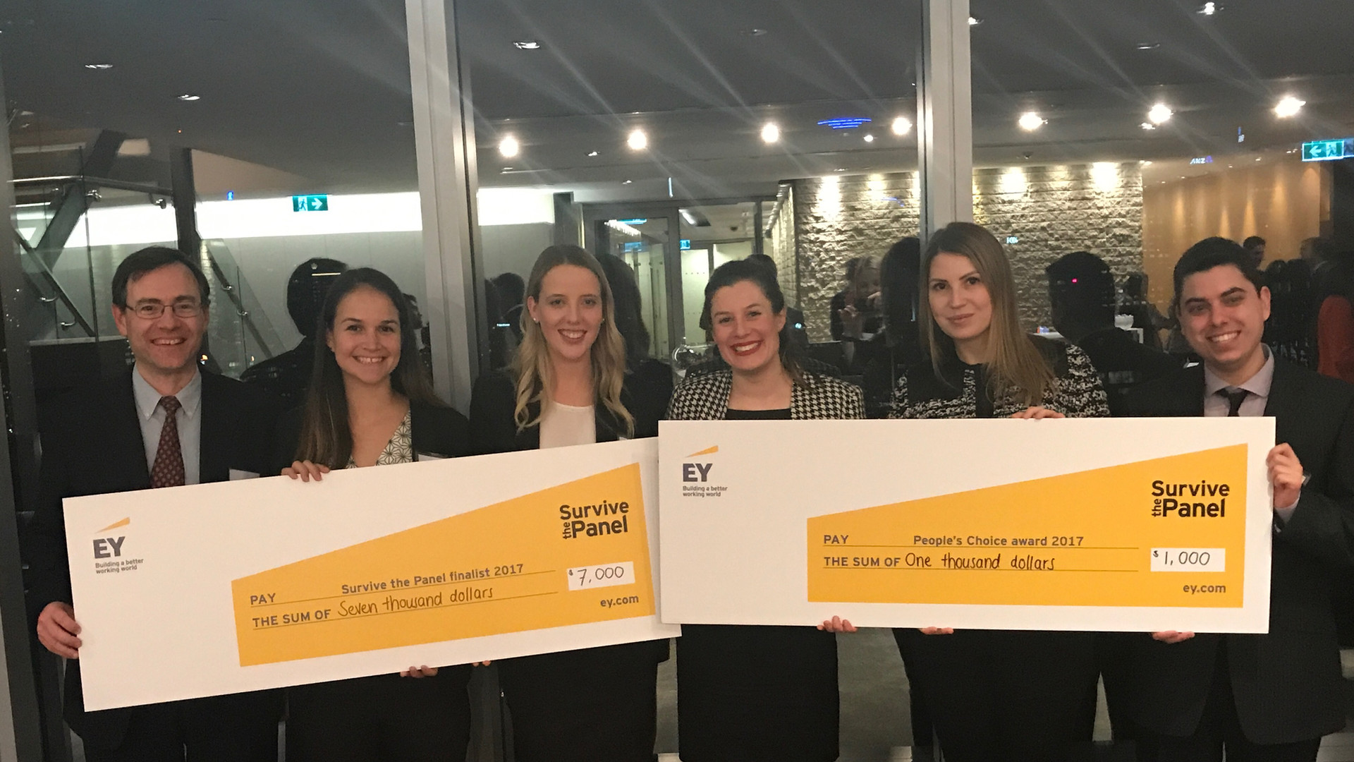Winners of the Ernst & Young Startup Competitions