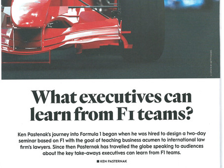 Learning from F1 teams: Article in SAM Magazine