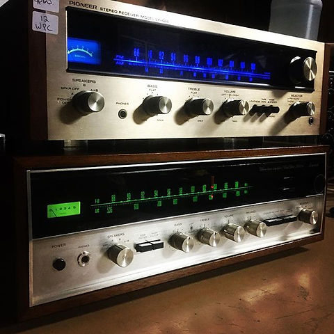 Speaking Volumes is stacked to the rafters with stereo gear, including these two beautiful vintage r