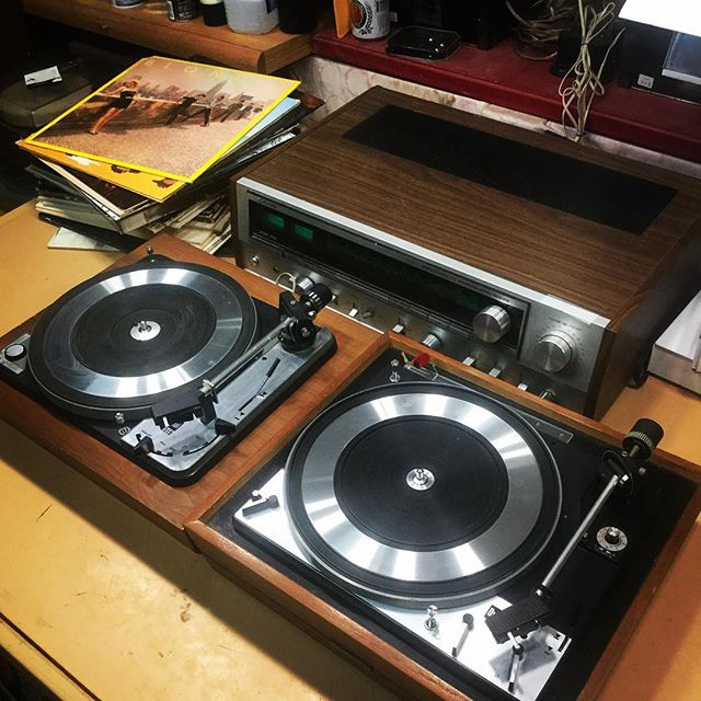 Gorgeous pair of #vintage #dual #turntables fully restored and ready to go back their owner!__#vinyl