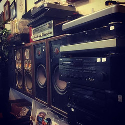 Maybe it's the kid in me, but I want to hook up all the speakers in the store at the same time. I gu