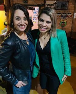 Fran com Cátia Fonseca