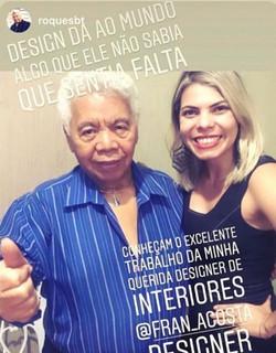 Fran com Roque do SBT