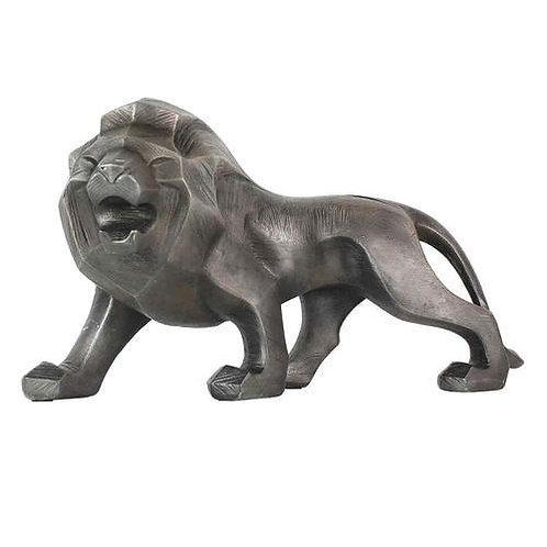 Leão resina prata