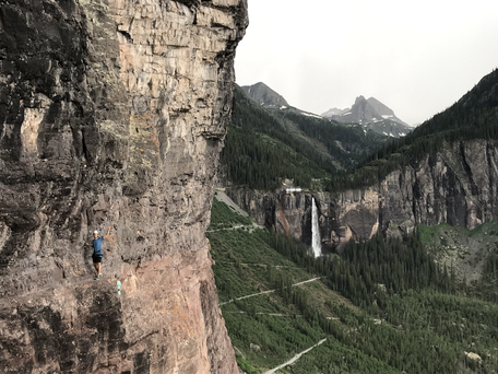 Telluride VF with bridal veil falls