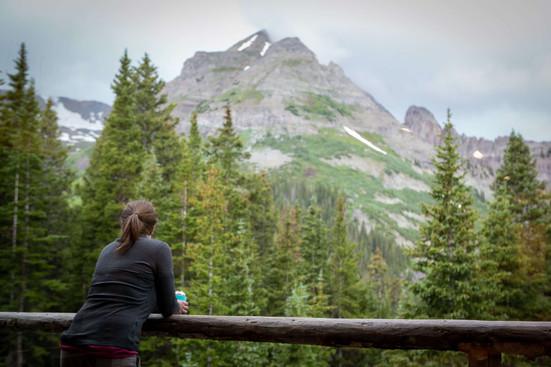 Mt Hayden Backcountry Lodge Balcony