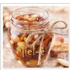Mandorle tostate in Miele d'Acacia - Miel-è,  100gr