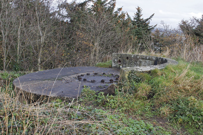 Downing Point WW1 Gun Emplacements