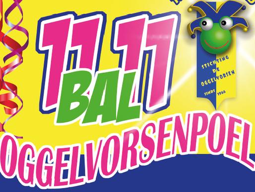 11:11 bal Oggelvorsenpoel op zondagmiddag 10 November 2019