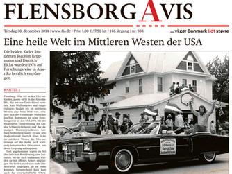 Amerika – Auswanderung: 10-teilige Zeitungsserie, Flensborg Avis, Jan. 2015 (dt.)