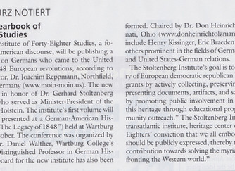 Quote about Stoltenberg Institute for Forty-eighter Studies from German Life magazine