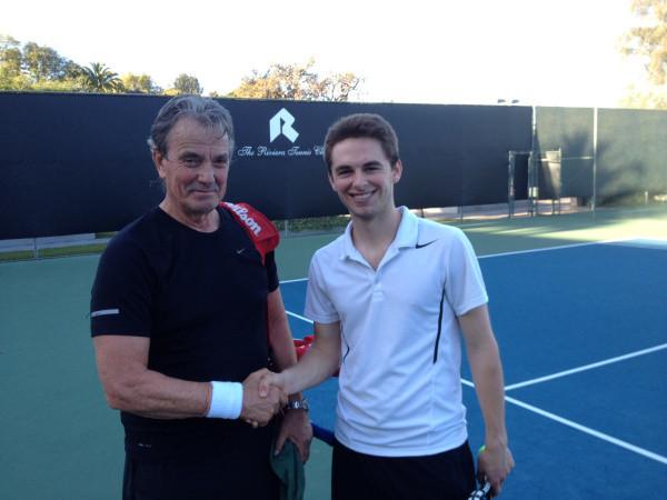 Joey Kronzer & Eric Braeden in Pacific Palisades' finest tennis club.