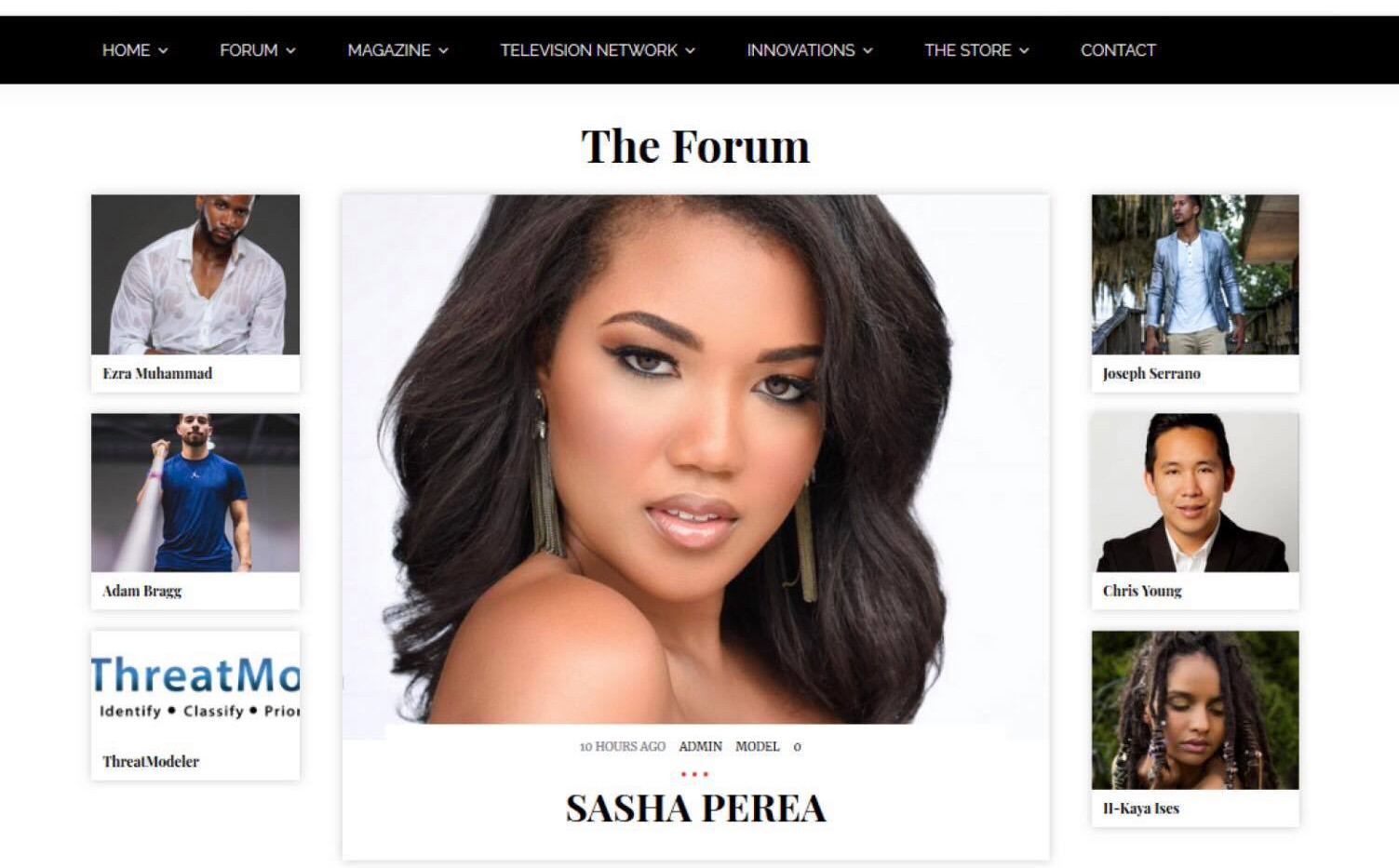 Sasha Featured on Industry Rule Magazine