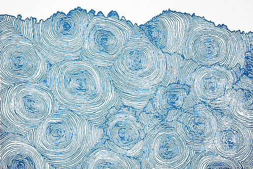 Sound In The Hills (Blue on White) SILKSCREEN PRINT