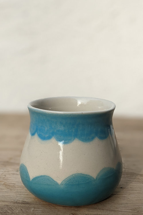 Blue scalloped tumbler