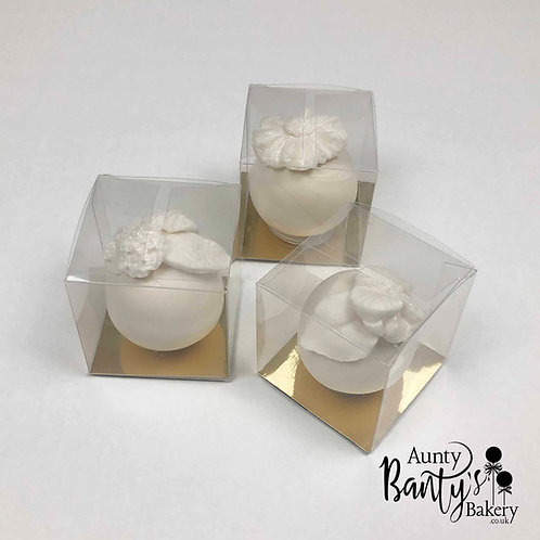 White Floral Boxed Favours