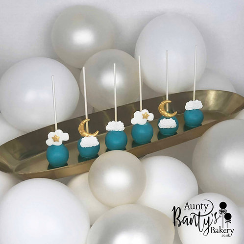"""""""In The Clouds"""" Cake Pops"""