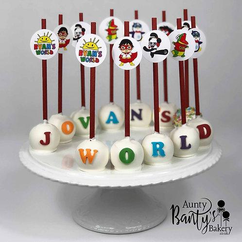 Ryan's World Cake Pops