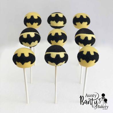 Batman Cake Pop Group shot with Logo LR.