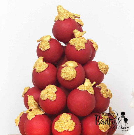 Love Birds Cake Pops Tower Image 4 with