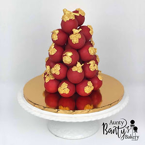 Love Birds Cake Pops Tower Image 1 with
