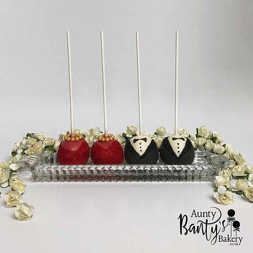 Desi Bride & Groom Cake Pops