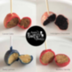 Cake Pop Flavours Collage with flavours