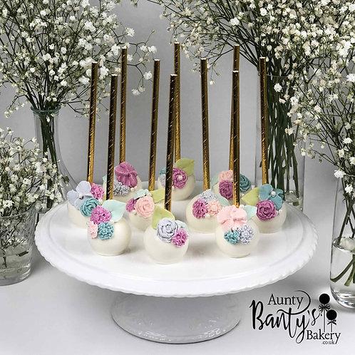 Floral Blossom Cake Pops