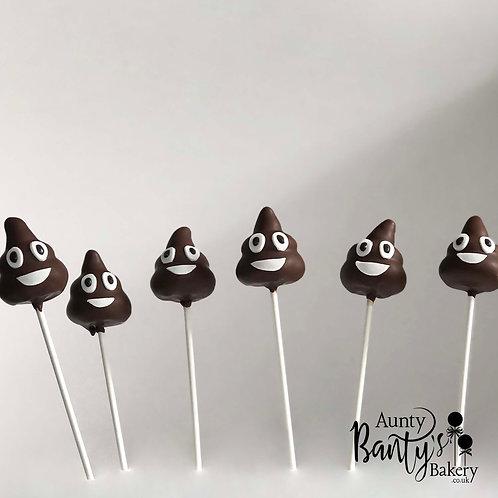 Poop Emoji Cake Pops
