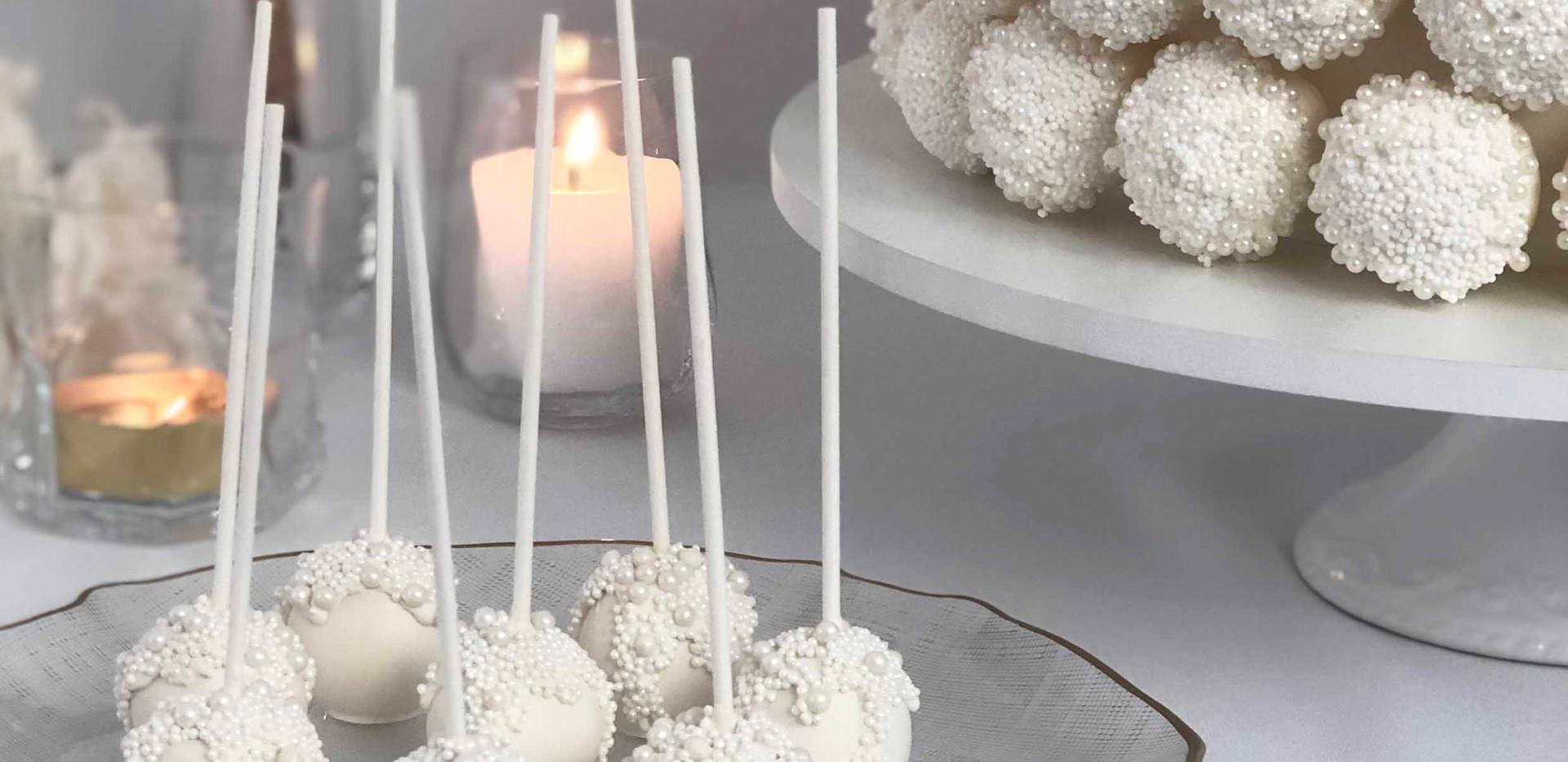 Pearl Drip Wedding Cake Image 11 with Lo