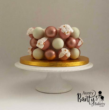 Rose Golf Floral Celebration Cake Pic 1
