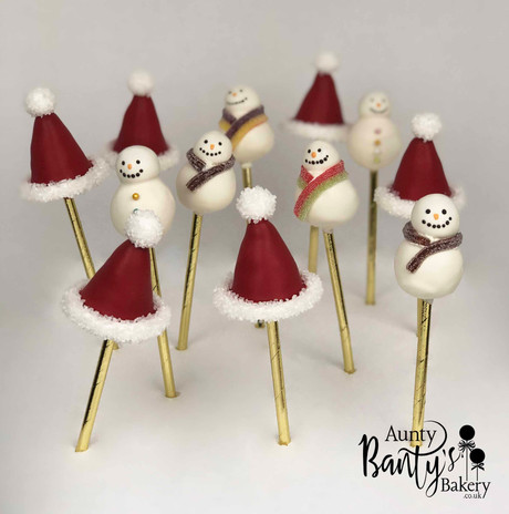 Snowman & Santa Hats Pops Image 2 with L