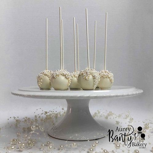 Pearl Drip Cake Pops